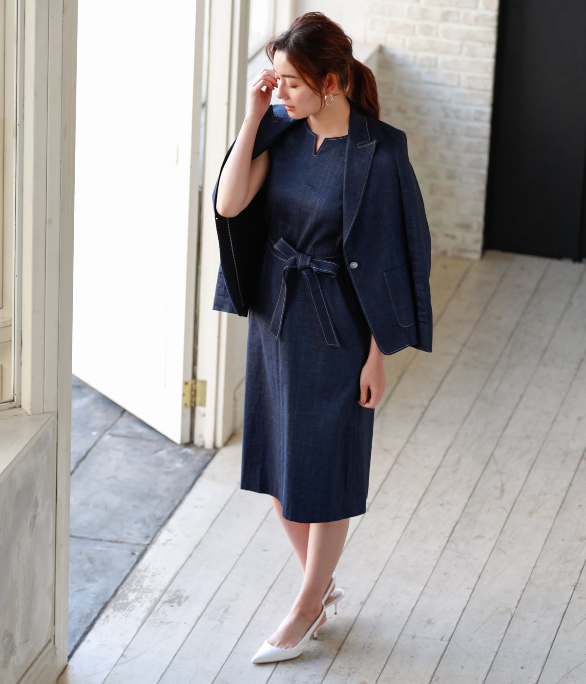 navy blue coordinate
