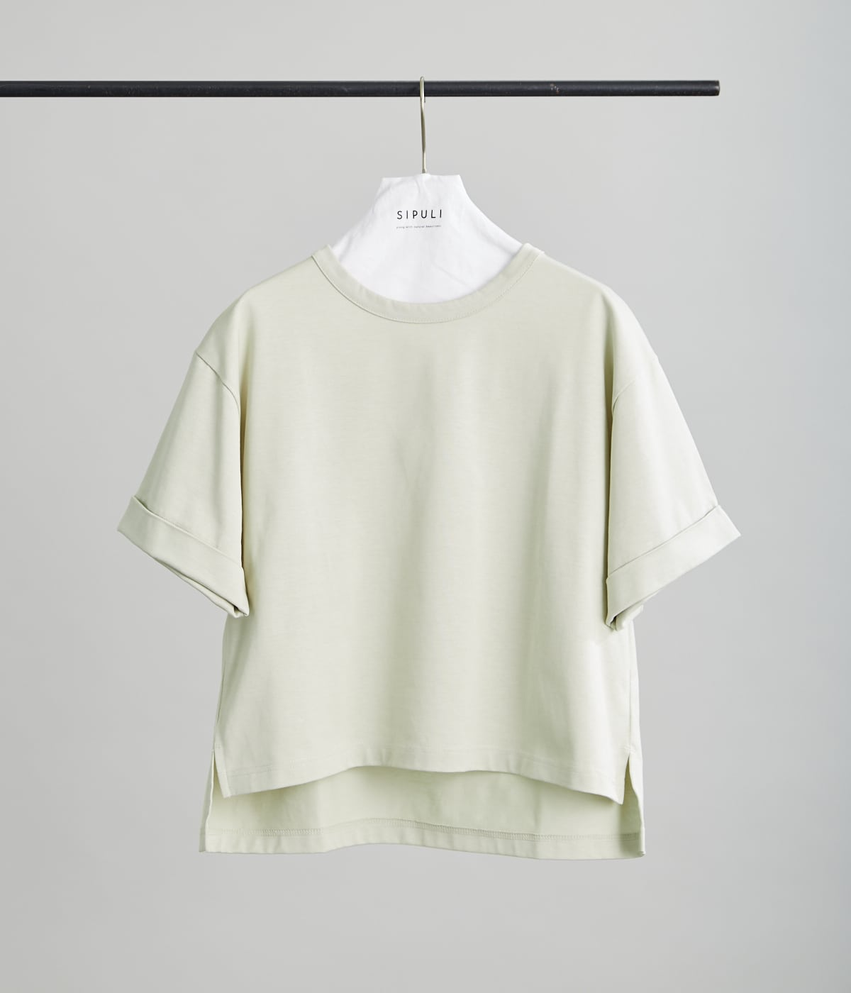 [ULTIMA] Heavy Cotton Jersey ロールアップTシャツ