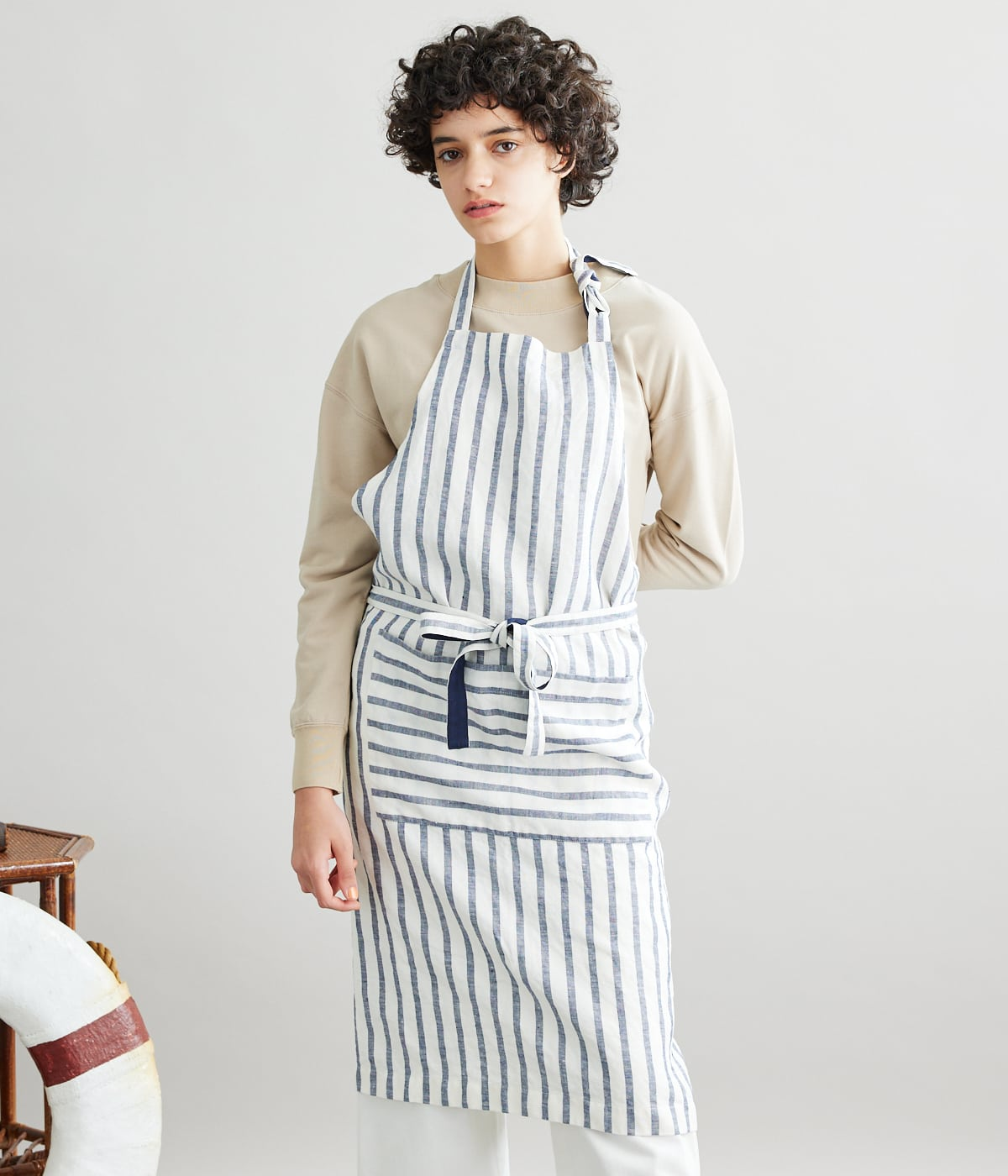 Egyptian Linen Stripe エプロン